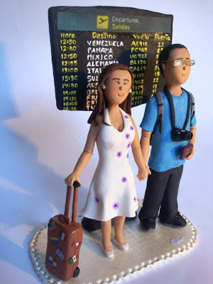 5 pasteles de boda para viajeros