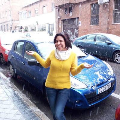Inesperada nevada en Madrid en marzo