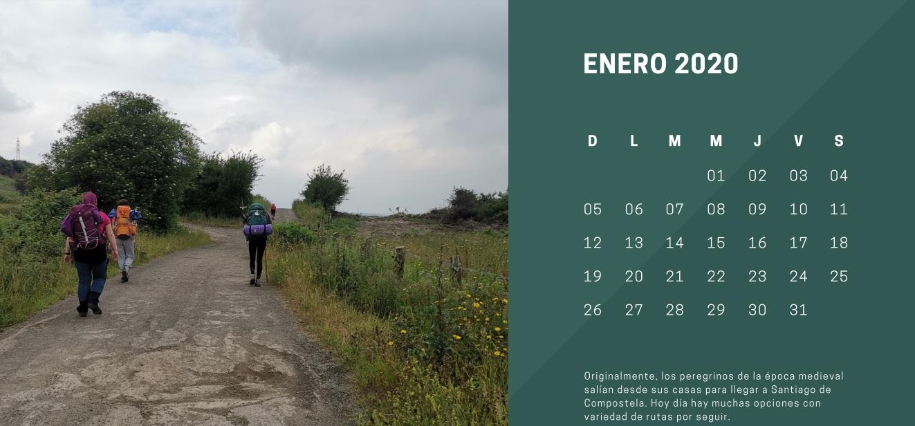 Una inspiración para los viajeros: Calendario 2020