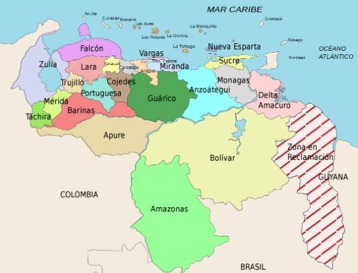 ¿Sabías que Venezuela tiene un territorio en reclamación?